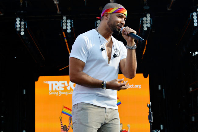 Jussie Smollet performs at the 2018 LOVELOUD Festival