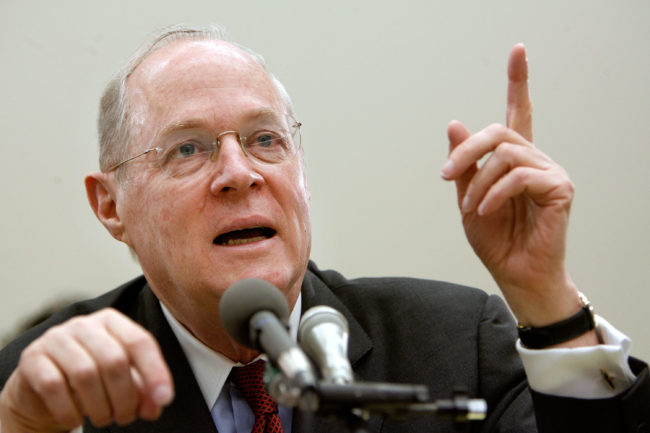 US Supreme Court Justice Anthony Kennedy testifies before Congress in 2007