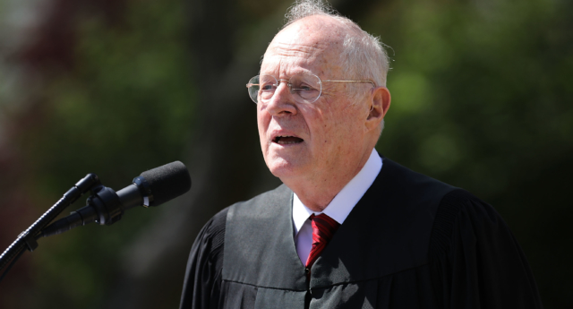 US Supreme Court Justice Anthony Kennedy during a ceremony in the Rose Garden at the White House April 10, 2017 in Washington, DC. (Chip Somodevilla/Getty)