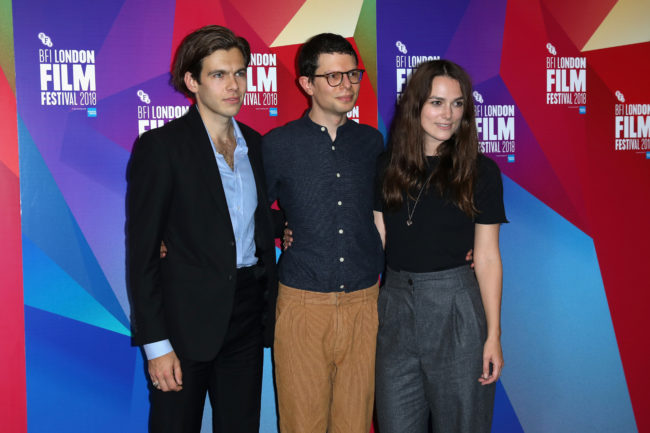 Keira Knightley with husband James Righton and comedian Simon Amstell