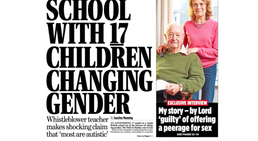 Mail on Sunday slammed for 'disgusting' trans kids article