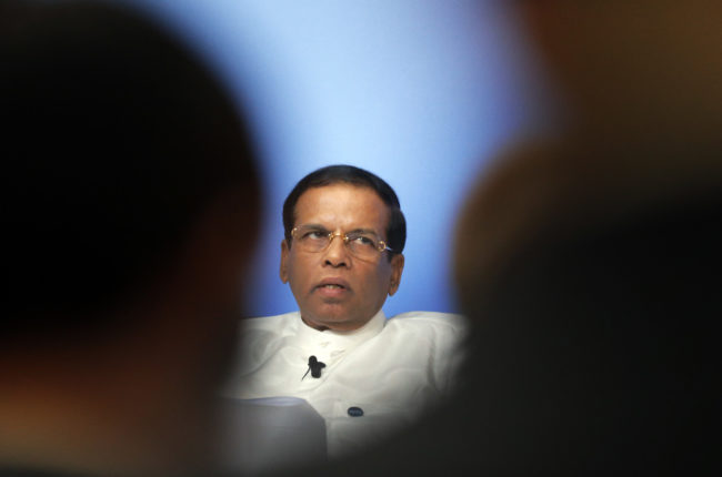 Sri Lanka President Maithripala Sirisena has faced accusations of homophobia