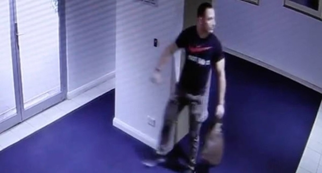 New South Wales Police Force are seeking the man pictured after another man, who it is believed he went on a date with, was impaled on a table leg. (NSW Police Force)