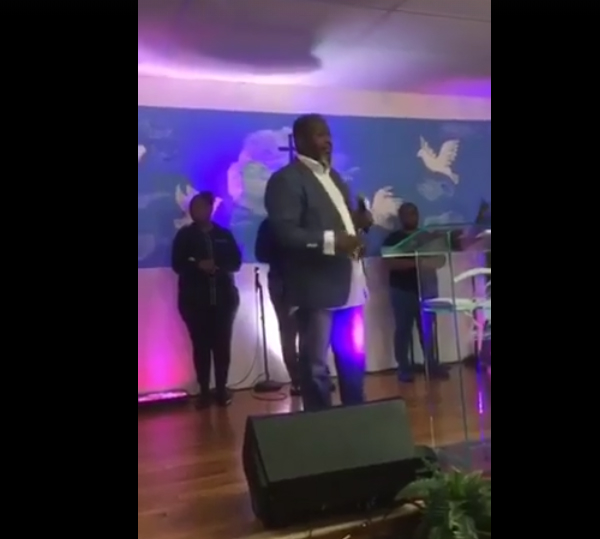 Pastor kicks person in drag out of church saying 'put on man clothes'