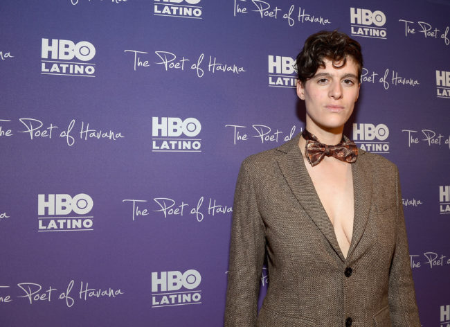 Model Rain Dove who has spoken out after they were pepper sprayed in October