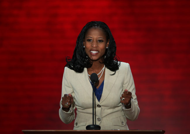 Utah Rep. Mia Love speaks during the Republican National Convention.
