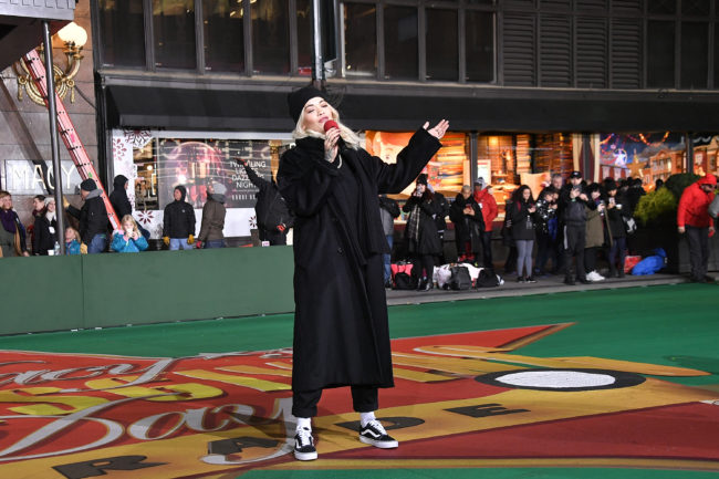 """Rita Ora in New York, who has responded to criticism over her song """"Girls"""""""