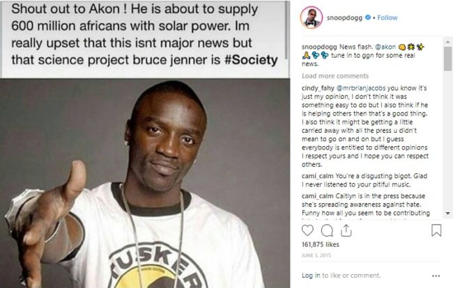Snoop dog transphobic Instagram post