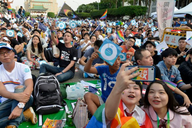 Thousands of LGBT activists attended the rally in Taiwan