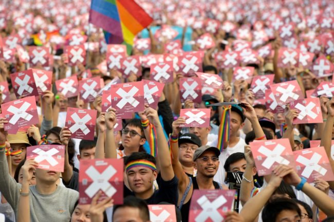People rally against anti-gay ballot measures