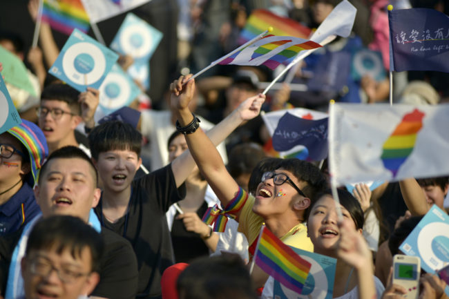 LGBT people in Taiwan rally in support of LGBT rights