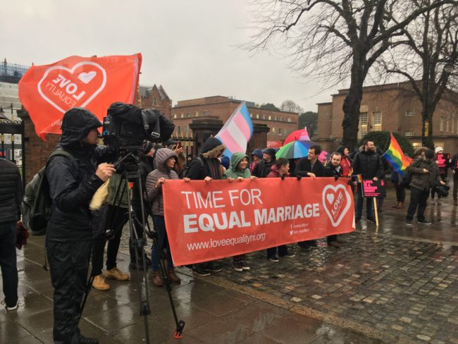 Members of Love Equality in Northern Ireland