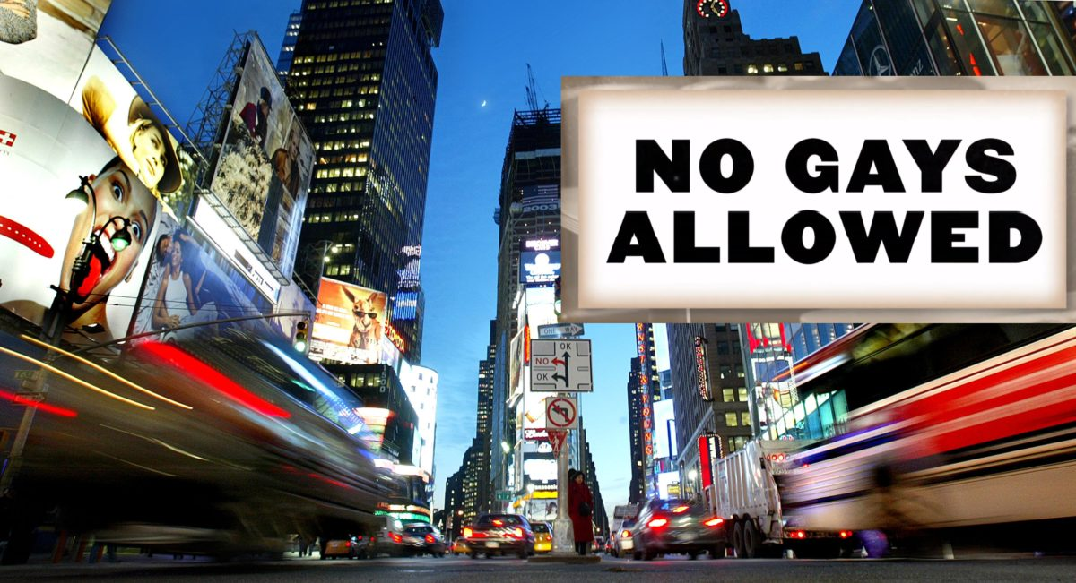 'NO GAYS ALLOWED' billboard goes up in Times Square