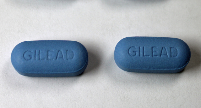 Gilead-branded Truvada, a two-drug combination of emtricitabine (FTC) and tenofovir disoproxil fumarate (TDF) taken by HIV patients  (Jeffrey Beall)