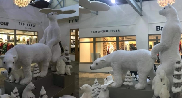 Tynwald Mills shoppers said the two polar bears look like they're having anal sex (Facebook)