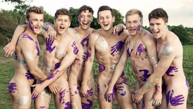 The Warwick Rowers, who just unveiled their 2019 naked calendar