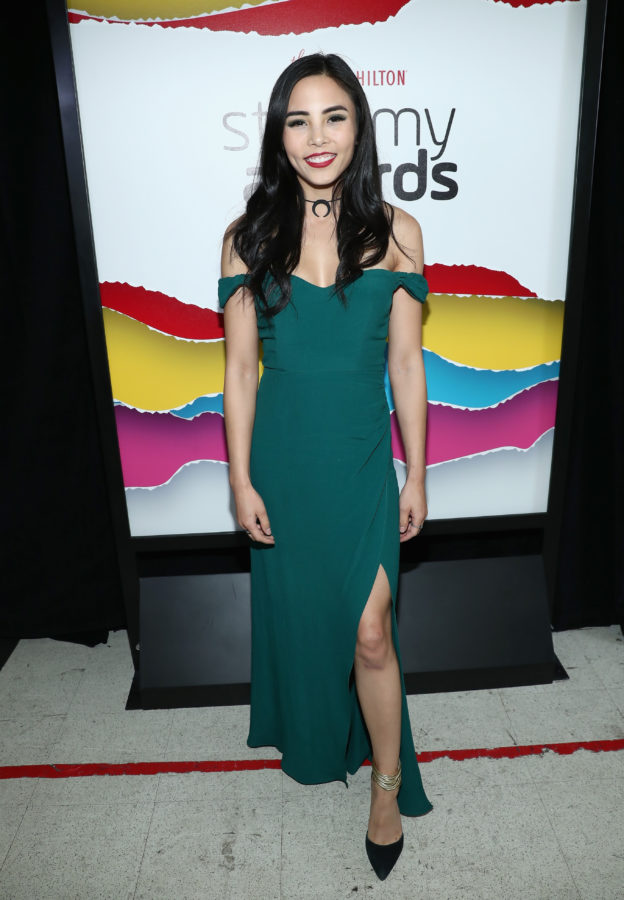 Anna Akana poses backstage during The 8th Annual Streamy Awards