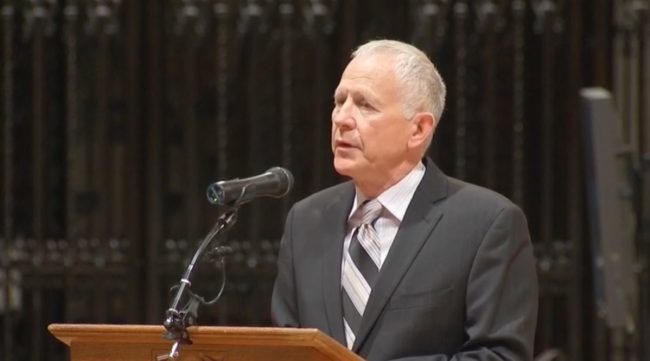 Dennis Shepard, who spoke at a ceremony before his son Matthew Shepard was laid to rest