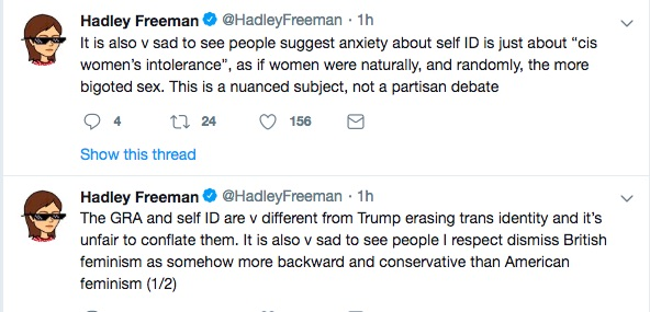 Hadley Freeman defended the Guardian editorial.