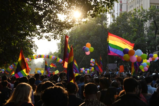 LGBT people and activists make their feelings known at Delhi Queer Pride 2018