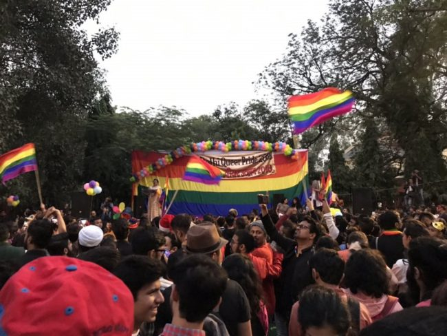 Thousands march through the streets of Delhi to celebrate Pride