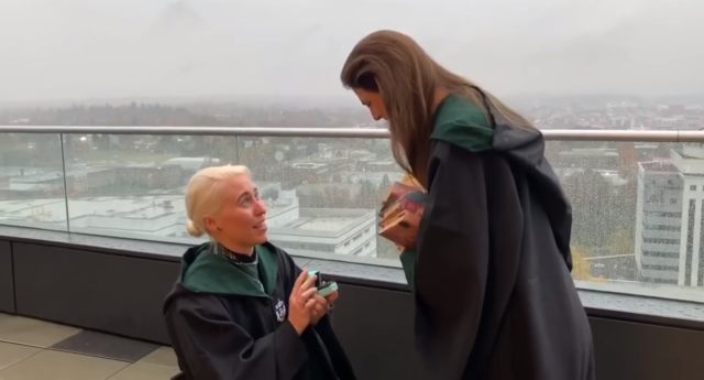 Heather Pearson pops the question to Kelsey Stacy