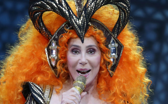 Cher performs during her Here We Go Again Tour at Rod Laver Arena on October 3, 2018 in Melbourne