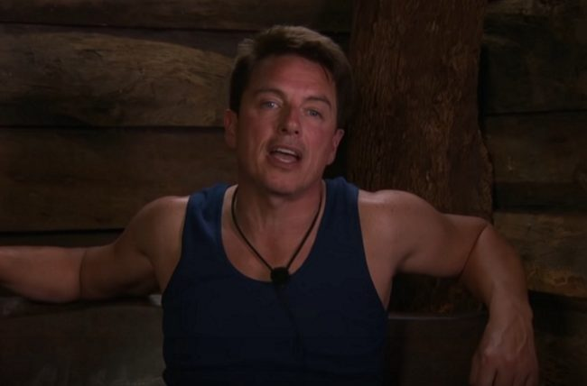 John Barrowman on I'm a Celebrity… Get Me Out of Here! speaking to the camera
