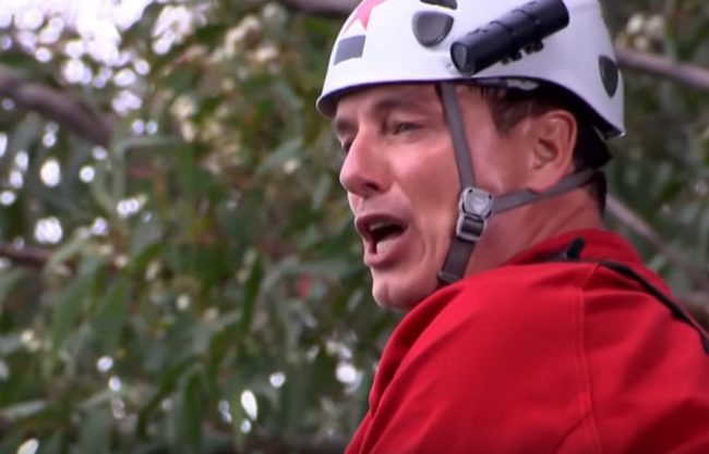 John Barrowman takes part in a bushtucker trial on I'm a Celebrity… Get Me Out of Here!