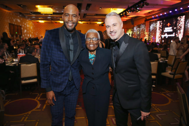 EQCA Honoree Karamo Brown, EQCA Honoree Jewel Thais-Williams and Ian Jordan attend the Equality California 2018 Los Angeles Equality Awards