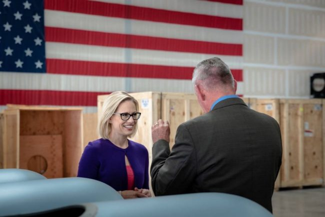 Kyrsten Sinema, the first bi-sexual US Senator