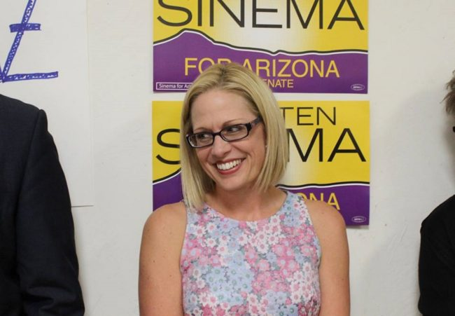 Openly bisexual Arizona Senator Kyrsten Sinema