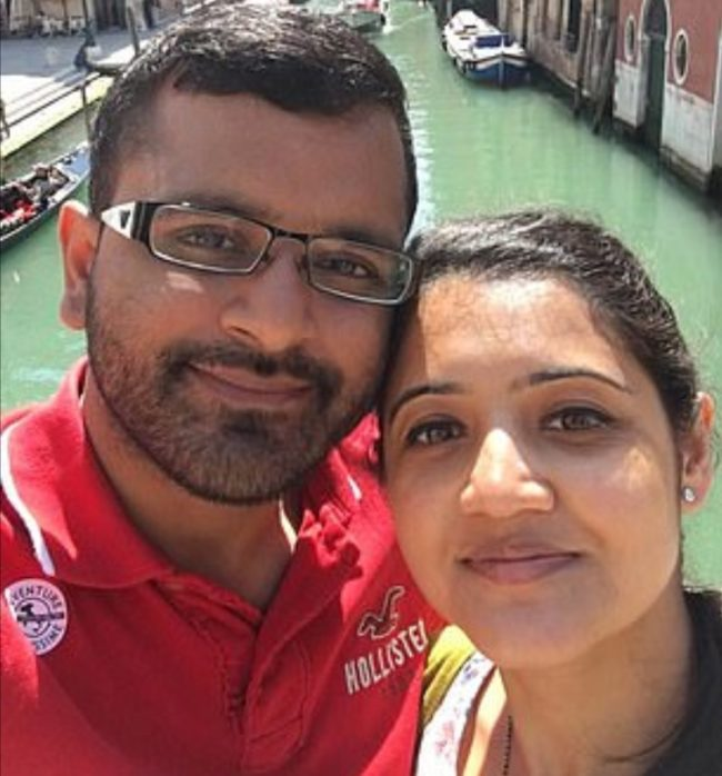 Mitesh and Jessica Patel, pictured on holiday in Venice