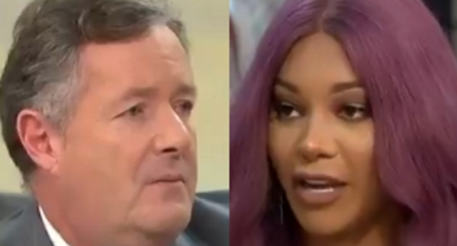 Munroe Bergdorf lashed out at Piers Morgan after he said he was pro-trans (itv)