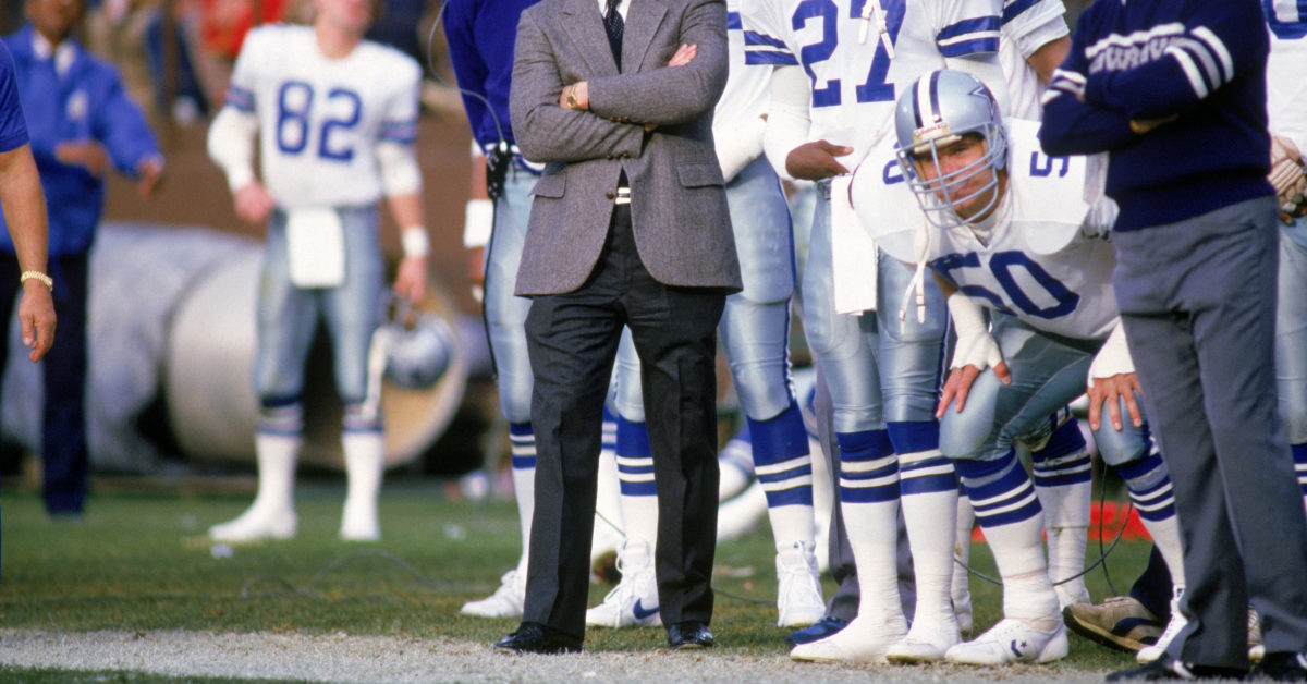 Jeff Rohrer played for the Dallas Cowboys wearing the n. 50 jersey from 1982 to 1989. (Otto Greule Jr./Getty)