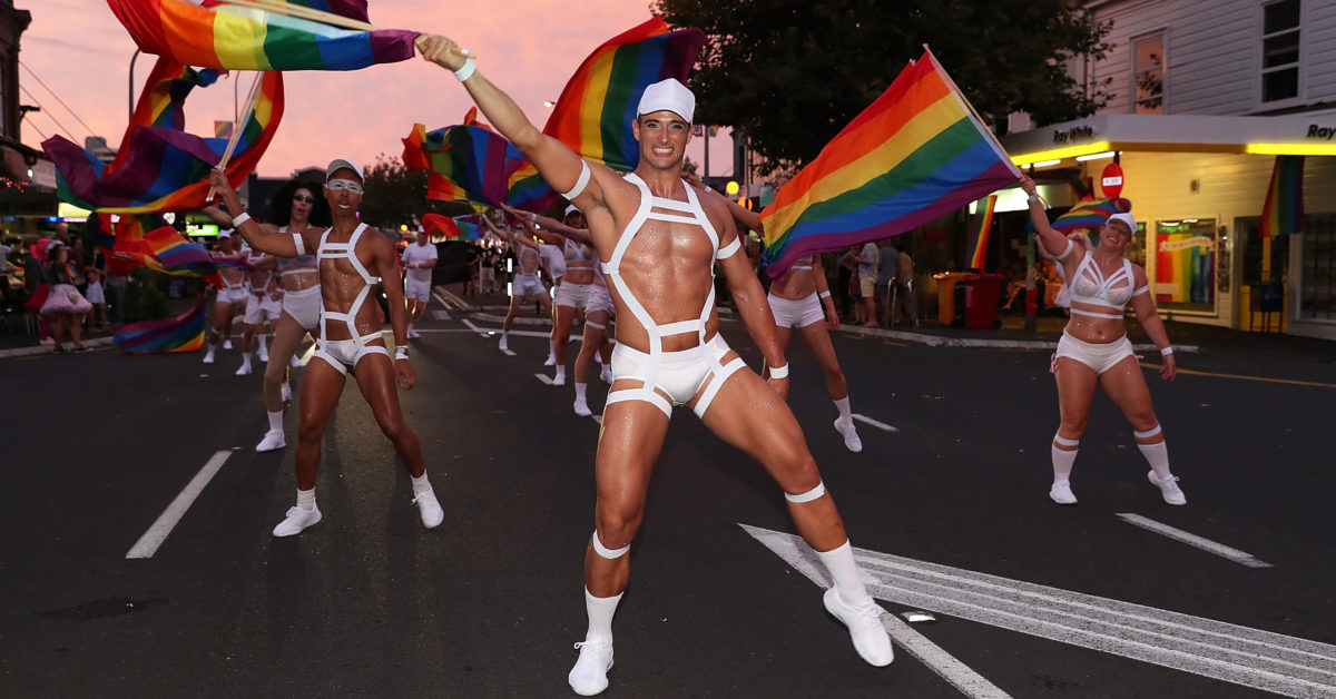 The Auckland Pride Parade is part of the annual Pride Festival promoting awareness of gay, lesbian, bisexual and transgender issues and themes. (Fiona Goodall/Getty)
