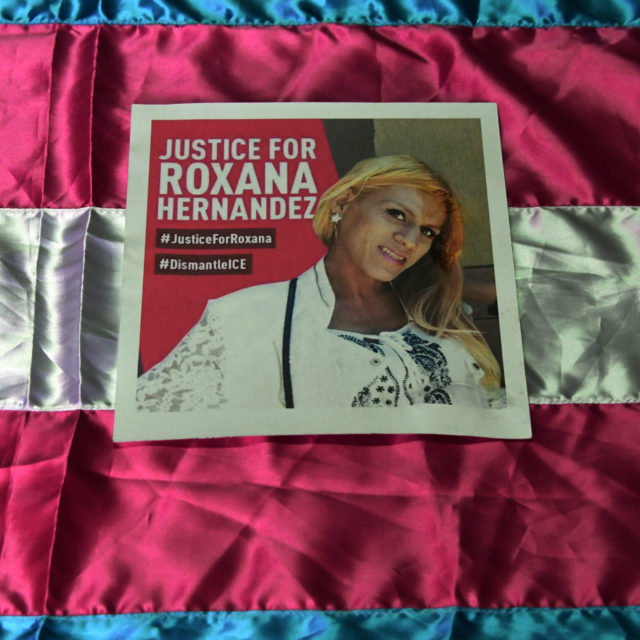 7fa15eba66de8 ... A poster demanding justice in the death of Honduran transgender woman  Roxana Hernandez