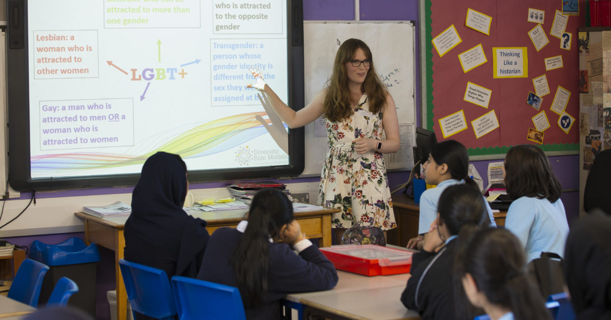 Diversity Role Models runs LGBT-inclusive workshops in schools. (Diversity Role Models)