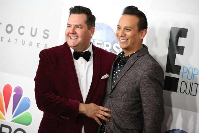 Ross Mathews and Salvador Camarena attend NBCUniversal's 72nd Annual Golden Globes After Party
