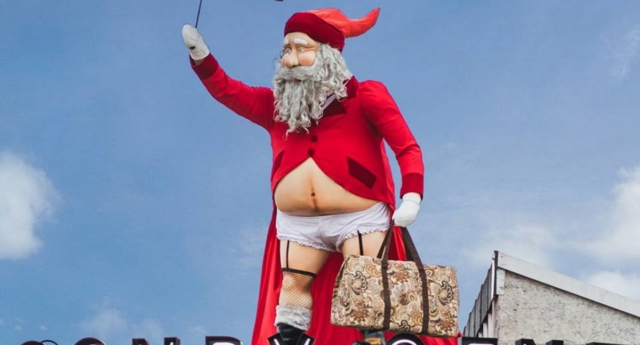 Ponsonby Central unveiled its gender neutral Santa this week (Ponsonby Central/facebook)