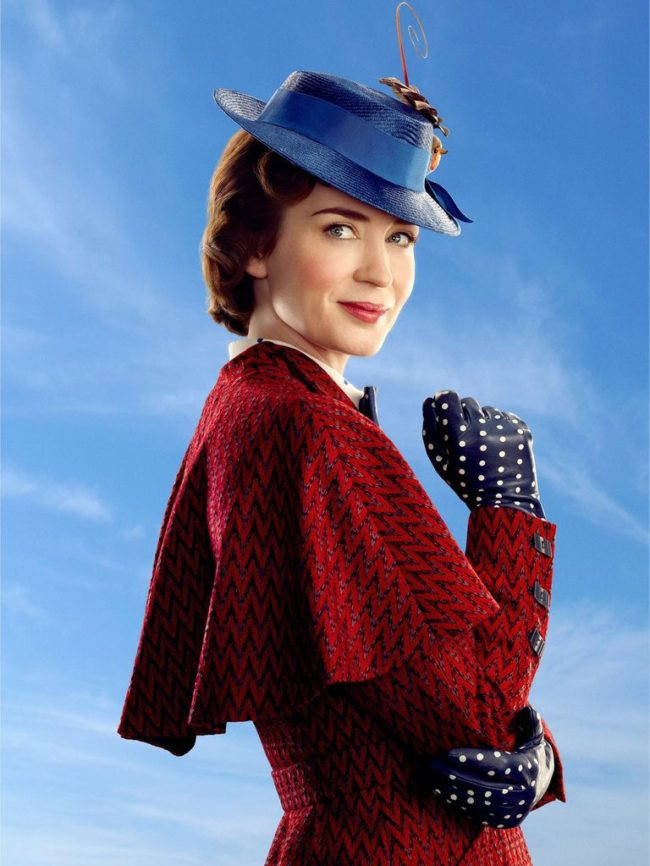 Emily Blunt as the titular character in Disney's Mary Poppins Returns