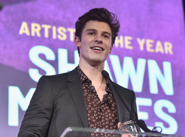 Shawn Mendes attends the Billboard 2018 Live Music Awards