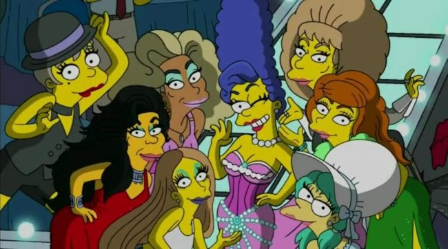 Marge Simpson joins other characters on The Simpsons in dressing in drag—her husband Homer Simpson will follow suit.