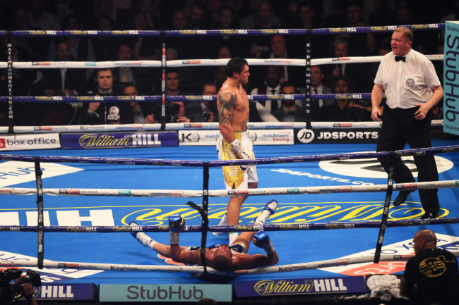 Tony Bellew knocked out by Oleksandr Usyk in the cruiserweight world title fight