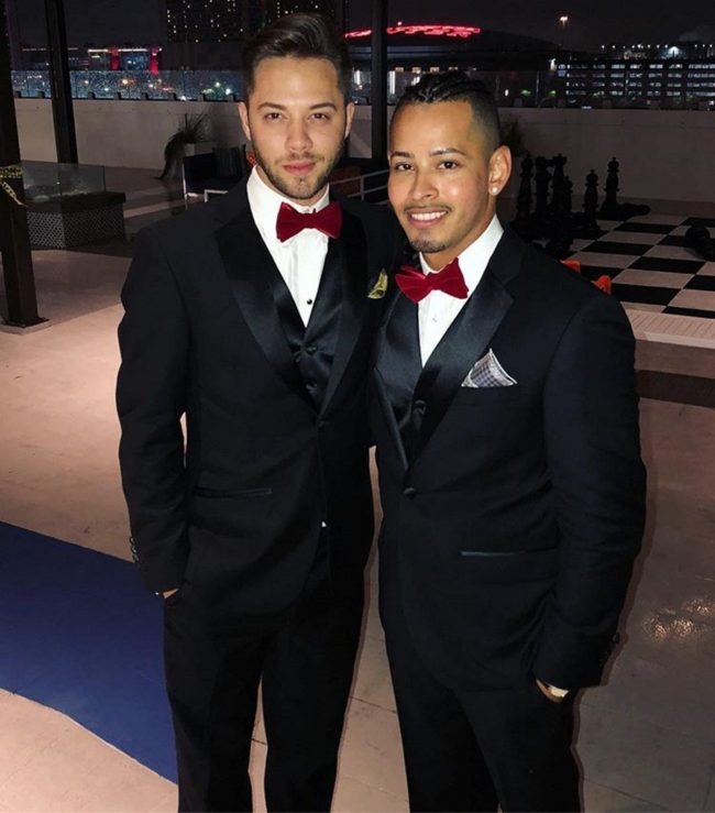 Gay fiancés Randall Magill and Jose Chavez