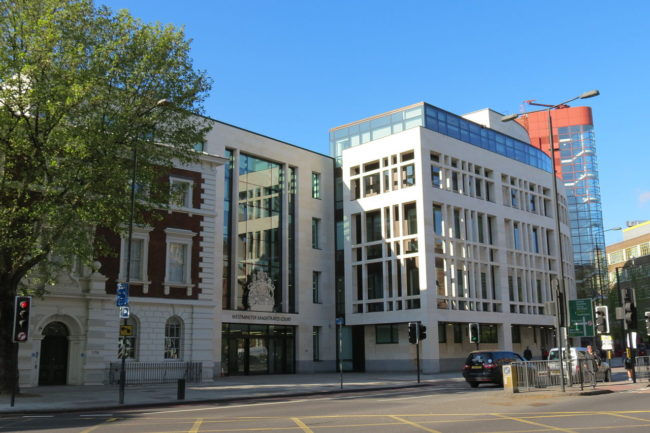 Westminster Magistrates Court, where a man was sentenced for hurling homophobic abuse at a TfL employee