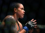 Amanda Nunes defeated Cris Cyborg by TKO in the first round.  (Sean M. Haffey/Getty Images)