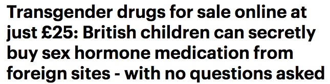 Daily Mail anti-trans headline