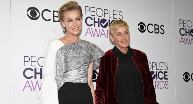 Ellen DeGeneres and her wife Portia de Rossi. (Kevork Djansezian/Getty Images)