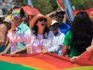 Cuban director of the Cuban National Center for Sex Education (CENESEX) Mariela Castro, daughter of President Raul Castro, participates in a march against homophobia on May 14, 2016 in Havana. (Yamil Lage/AFP/Getty)